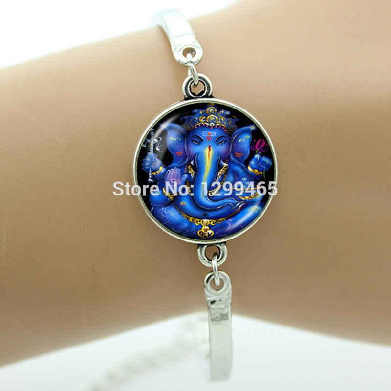 Chakra Art hot Energy Healing Jewelry Indian style Lord Shiva Geneisha bracelets Animal Religious Elephant jewellery women B706