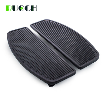Motorcycle Accessories Front Rubber Rider Insert Floorboard Footrest For Harley Touring FLTR FLHS Dyna Softail Road King