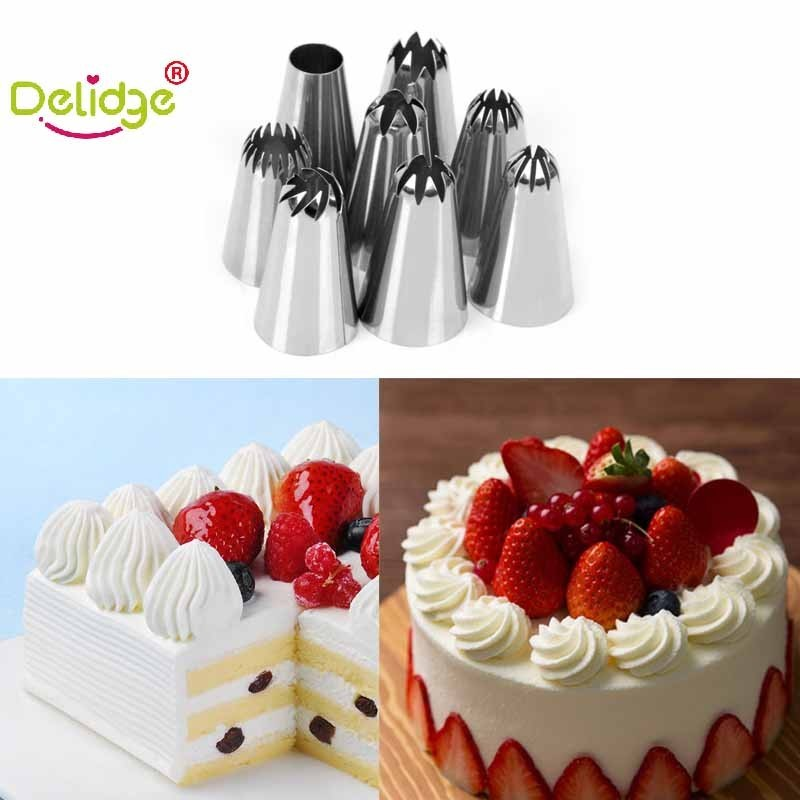 Icing Nozzle Cream Decorating-Tools Kitchen-Accessories Fondant-Rose Large-Size Delidge