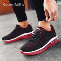 Golden Sapling Breathable Knit Sport Shoes Men Air Cushion Comfortable Sneakers Man Summer New GYM Trainers Men's Tennis Shoes