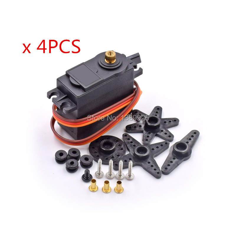4PCS MG995 Servo Metal Gear High Torque Servo For HPI XL Helicopter/Car/Boat