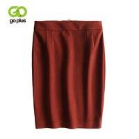 GOPLUS Autumn Winter High Waist Pencil Skirt Wool Sexy Bodycon Skirts Womens Skirt Office Work Wear Ladies Saia Faldas C6862