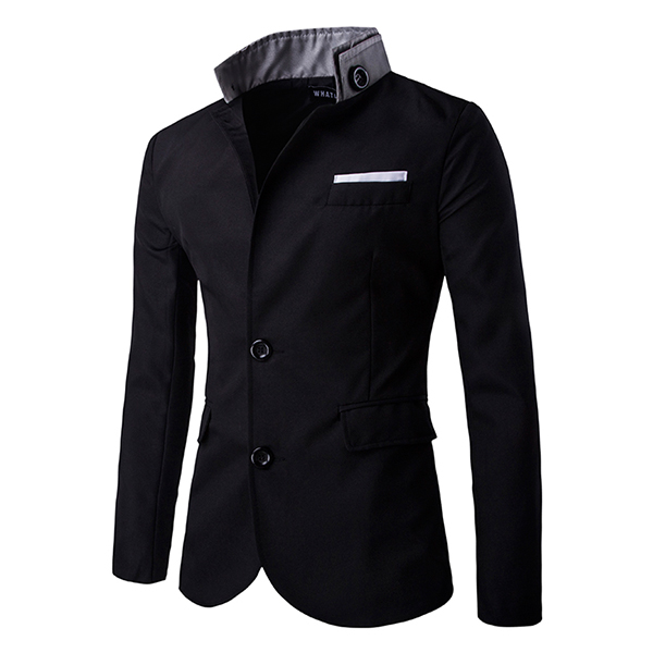 Casual-Slim-Fit-Stylish-Single-Breasted-Suit-Blazer-Mens-Coat-Male-Fashion-Stand