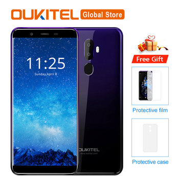 OUKITEL U25 PRO 5.5″ 2.5D Android 8.1 MT6750T Octa Core 4GB 64GB 13MP+2MP/5MP Smartphone 3200mAh Fingerprint Mobile Phone