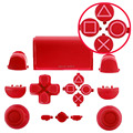 IVY QUEEN Red Full Buttons Mod Kit for PS4 Dualshock 4 Controller R2 L2 Face Buttons with Symbol Triangle Circle Square X button