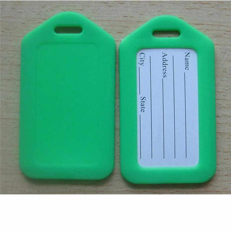 1 Máy Tính Ngẫu Nhiên Nhựa Thẻ Hành Lý Giá Đỡ Nhãn Dây Đeo Tên Địa Chỉ ID Túi Bọc Vali Hành Lý Du Lịch Hành Lý Nhãn