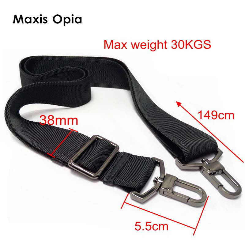 Nylon Bag Strap For Men Bags Strong Shoulder Strap Men Briefcase Laptop Bag Belt Length 150CM Bag Accessory Purse Frame Strap hoyobish black nylon bag strap for men bags strong shoulder strap men briefcase laptop bag belt length 150cm bag accessory oh201