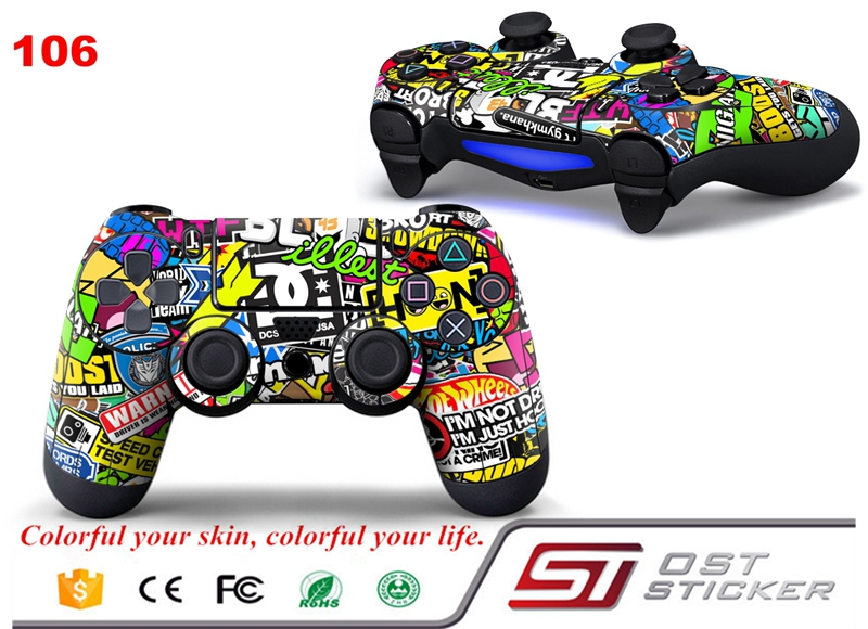 Cover Skin Sticker for sticker bomb For PS4 Controller