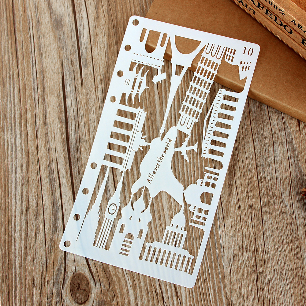 A6 All Over The World City DIY Craft Layering Stencils Wall Painting Scrapbooking Stamping Embossing Album Paper Card Template