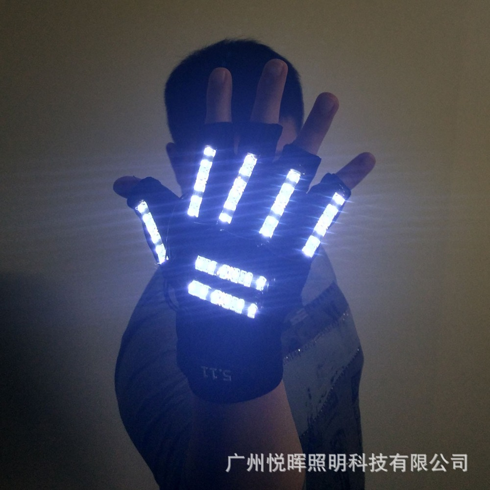 Free Shipping LED Glasses Rivet Punk Glasses Party Supplies Dancing Club Props Stage Costumes Halloween Lighting LED Gloves