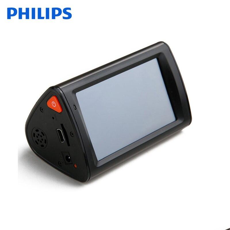 Автомобильный видеорегистратор Philips, широкий угол обзора, 4K, Full HD, DVR, камера с ночным видением, 4K, сенсорный экран, запись данных на автомобил