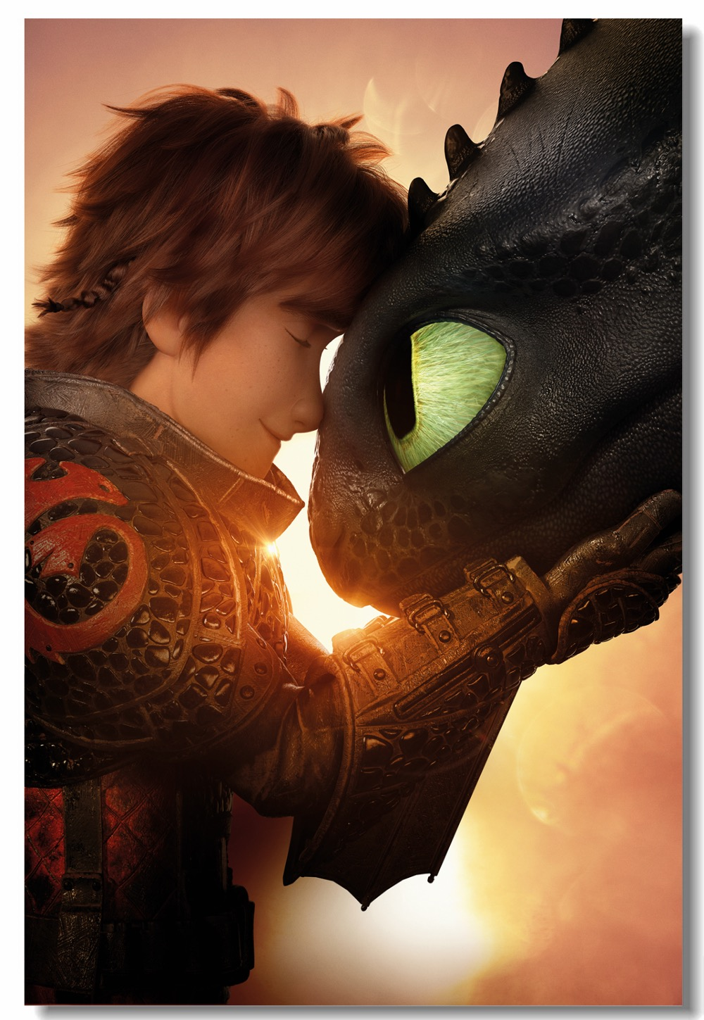Us 5 75 28 Off Custom Canvas Wall Paintings How To Train Your Dragon 3 Poster Night Fury Hiccup Stickers Httyd Wallpaper Kids Room Decor 0857 In