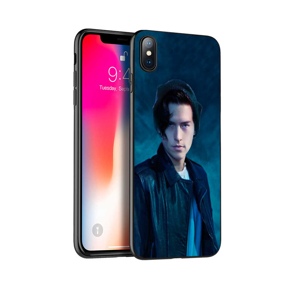 Black tpu case for iphone 5 5s se 6 6s 7 8 plus x 10 case silicone cover for iphone XR XS MAX case tv riverdale Jughead Jones
