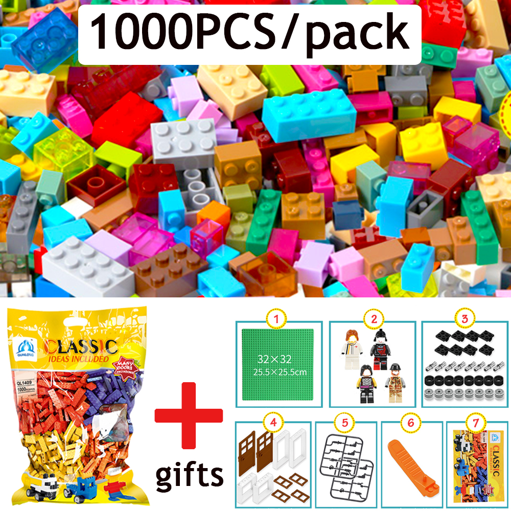 все цены на 1000PCS/pack Compatible with legoingly DIY Building Bricks Blocks Toy for Children Baseplate Figures Brick-separator as Gifts онлайн