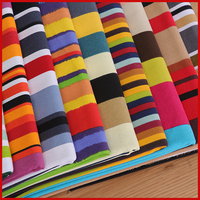 Nabi Cotton Fabric The Cloth Patchwork Fabrics By The Meter Clothing For Furniture Colored Stripes Printed