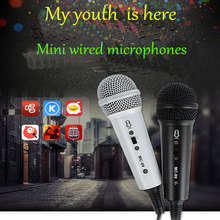 JIY Mini Professional Condenser wired Microphone High fidelity sound mobile phone record songs Microphones for karaoke computer