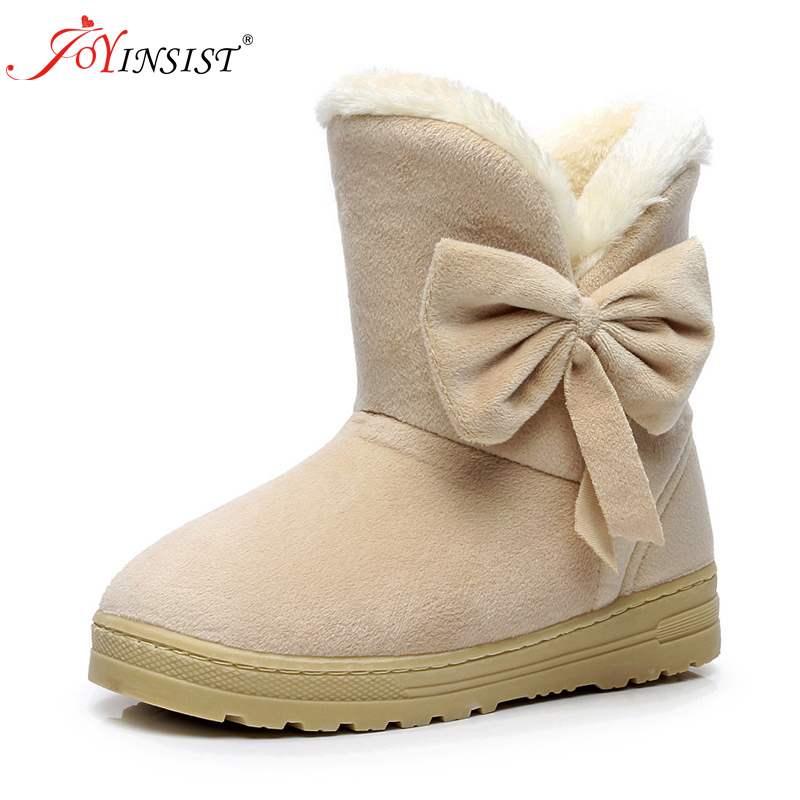 2018 Winter New Women Snow Boots Solid Bowtie Slip-On Soft Cute Women Boots Round Toe Flat with Winter Shoes2018 Winter New Women Snow Boots Solid Bowtie Slip-On Soft Cute Women Boots Round Toe Flat with Winter Shoes