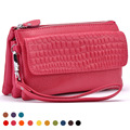 2015 NEW DESIGN fashion genuine leather wallet women long style cowhide stone purse fashion single shoulder bag/hand bag
