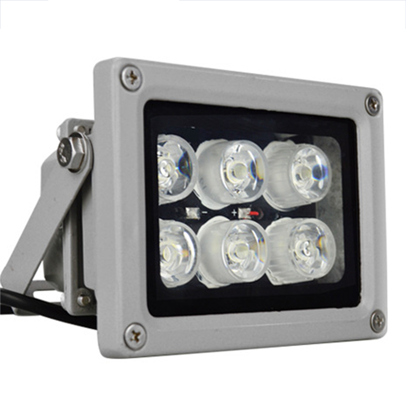 CCTV LEDS 6 Strong Infrared Light LED CCTV Illuminator Fill Lamp Night Vision 50M Waterproof lamp For Security CCTV IP Camera