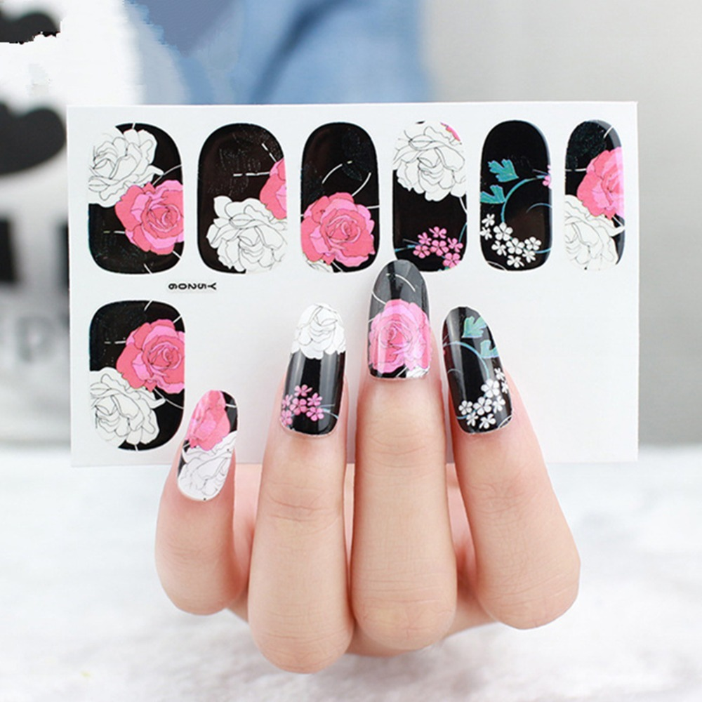 5pcslot nail sticker elegant peony flower stickers blooming flower 5pcslot nail sticker elegant peony flower stickers blooming flower 3d nail art decals sexy beauty nails wraps styling tools in stickers decals from izmirmasajfo