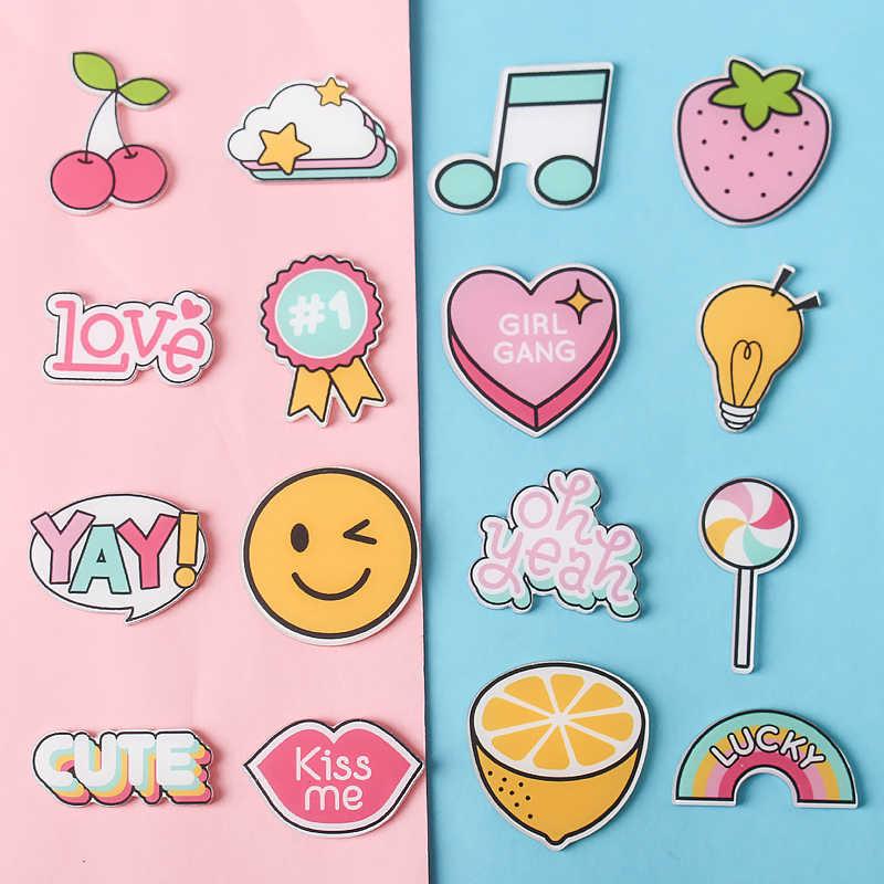 1 PCS MIX Süßigkeiten regenbogen Cartoon Icons auf Die Pin Kawaii Symbol Abzeichen Bacges auf Rucksack Abzeichen für Kleidung Acryl abzeichen Z74