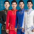 free shipping 2016 Chinese style costume male new porcelain Embroidery Dress suit Costume Adult chorus singer host wedding suit