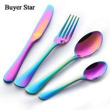 Luxury Cutlery 24Pcs Flatware Sets Stainless Steel Restaurant font b Kitchen b font Wedding Dinner Beautiful