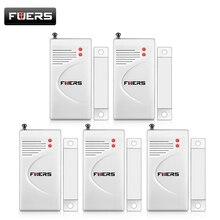 Fuers 5 pz/lotto 433 Mhz Contatto Porta Senza Fili per Porte E Finestre Magnete di Ingresso del Sensore del Rivelatore (Batteria Inclusa)