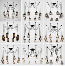 Vintage Spider pendant lights luminaire lamp Loft E27 Industrial Lighting Retro Loft Hanging Suspension Fixtures Home 110V 220V 110v 240v e27 garden style children chandeliers bedroom suspension luminaire