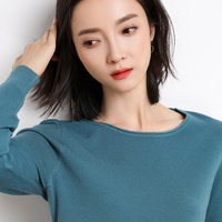 2019 Cashmere wool Sweater Women solid color Pullover o neck sweaters female Long sleeve Knitted jumpers Crimped tops