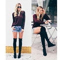 Laite Hebe Thigh High Boots Women Over Knee Shoes 2016 New Fur Boots China Boot Mou Over The Knee Boots Women's Shoes Size 35-40