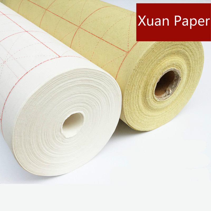 100m Intersected Figure Rice Paper Chinese Calligraphy Brush Writing Half-Ripe Xuan Paper Chinese Landscape Painting Xuan Paper