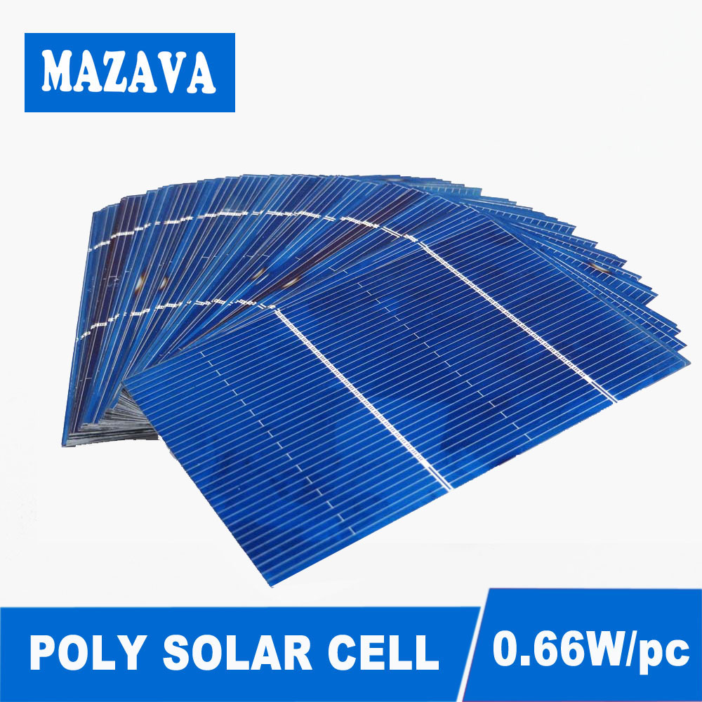 50PCS/LOT Solar Panel DIY Charger Solar Cells Polycrystalline LED Lamp Silicon Battery Charge Light 78*52mm 0.5V 0.66W
