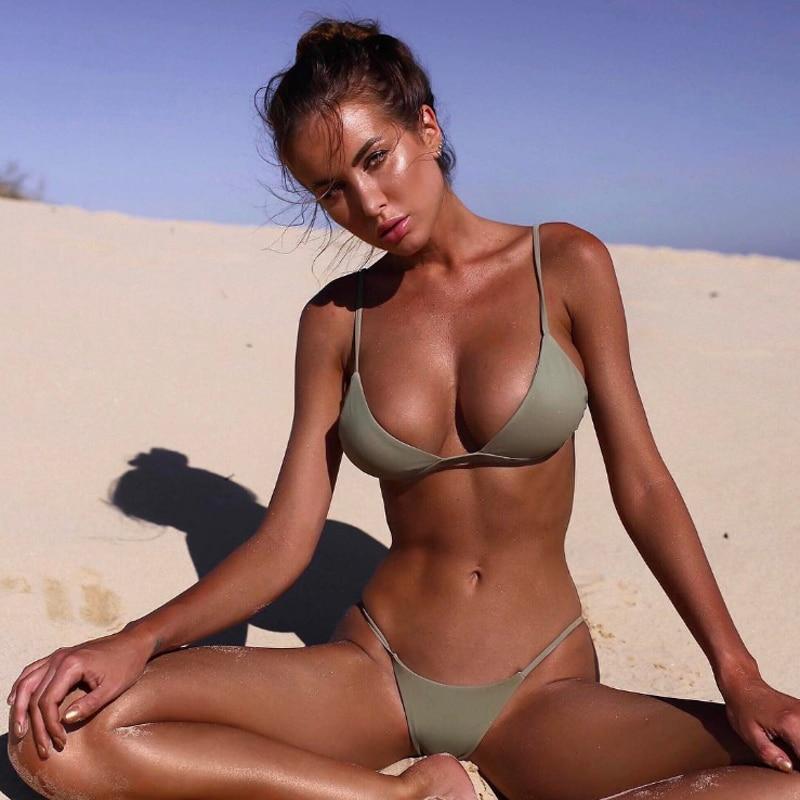 2018 New Sexy Women Swimsuit High Waist Bathing Suits Swim Push Up Bikini Set Beach Wear M35