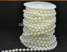 15m /roll Wedding party tree centerpiece Decor 8mm acrylic pearl Crystal thread Beaded strand curtain Garland
