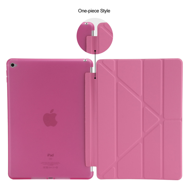 Image 5 - For Ipad Air 2 / Air 1 Smart Case 5 Shapes Stand Ultra Thin PU Leather Cover Silicon Soft Case For iPad 5 / 6 Auto Sleep/Wake up-in Tablets & e-Books Case from Computer & Office