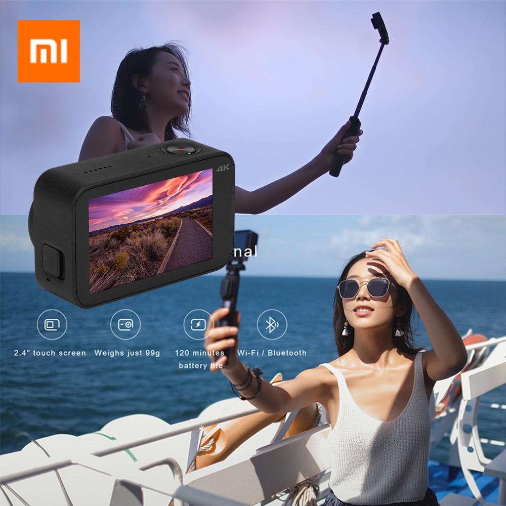 International version Xiao mi mi mi jia D'action caméra 4 k 30FPS Ambarella A12S75 WiFi sous-marine étanche Cam Sport vidéo caméra