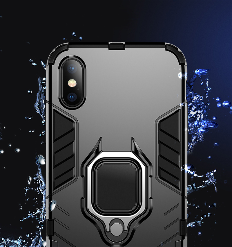 Luxury Armor Shockproof Kickstand Phone Case For iPhone XS MAX XR XS X 8 7 6S Plus 5S SE Ring Stand Holder Bracket Cover Funda (8)