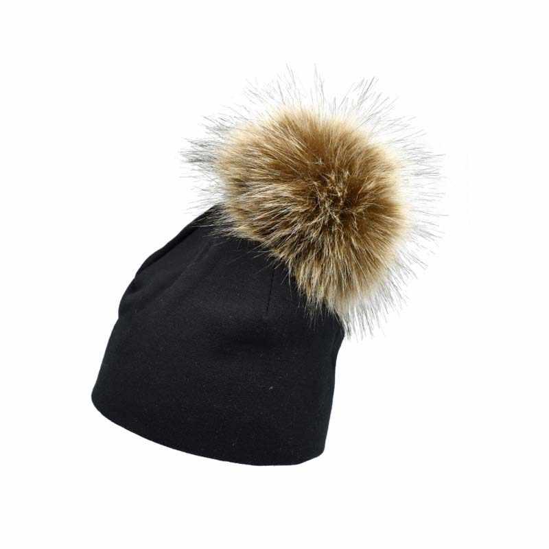 743bc2ac9 Baby Boys Girls Hat Pom Poms Children Winter Hat Beanies Solid Baby Hat  Infant Toddler Cap Warm