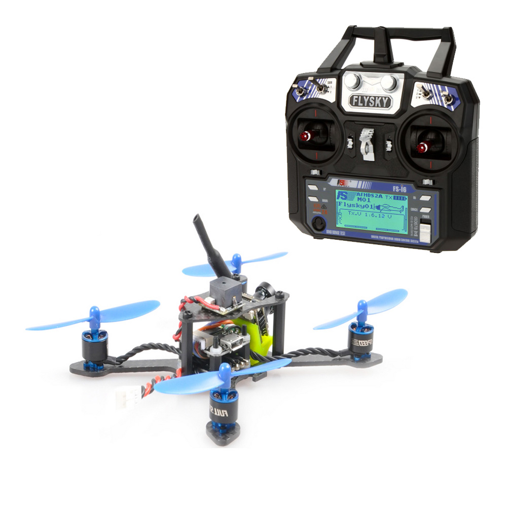 JMT Bat-100 100MM Carbon Fiber DIY FPV Micro Brushless Racing Quadcopter RTF with Flysky FSI6 Remote Control jmt kingkong et100 rtf brushless fpv rc racing drone with flysky fs i6 6ch 2 4g transmitter radio system mini quadcopter