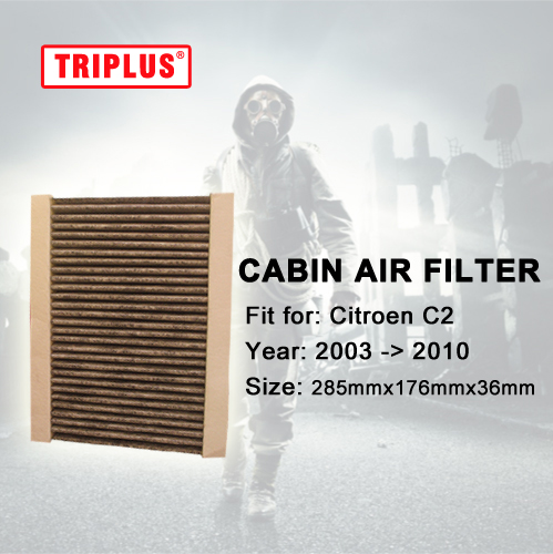 Activated High Carbon Pollen Filters for Citroen C2 (2003-2010) 1pc,Cabin Air Filter for C2, Better Quality than OE parts
