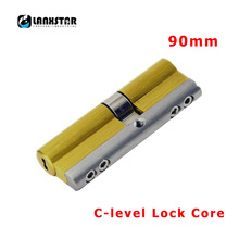 LANXSTAR 90 мм латунь 304 Нержавеющая сталь 8 клавиш цилиндр противоугонной блокировки двери C Класс Медь замок безопасности Core C уровня замок ядер