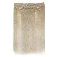 Full Shine Hair Bundle 100% Remy Human Hair Weft Straight Extension Blonde Hair Color #60 Brazilian Hair 100g Per Bundle