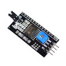 1PCS SAMIORE ROBOT Seriële Board Module Port PCF8574 IIC/I2C/TWI/SPI Interface Module 1602 LCD display i2c lcd interface(China)