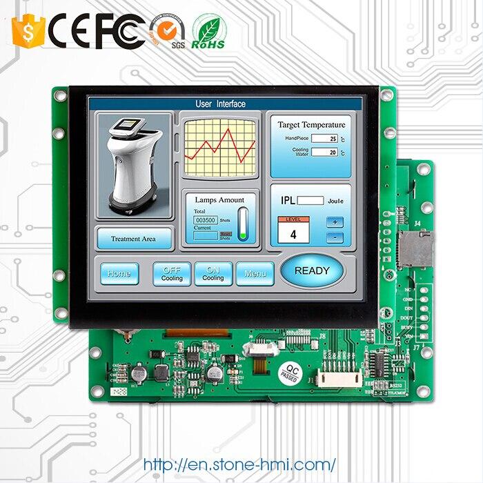 Écran tactile d'interface série d'affichage à cristaux liquides de 5.0 TFT pour le contrôle industriel d'ihm