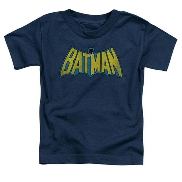 Trevco Dc-Classic Batman Logo – Short Sleeve Toddler Tee – Navy Medium 3T