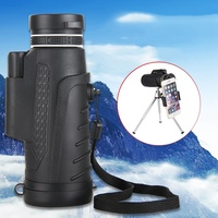Mayitr High Quality 40X60 HD Zoom Telephoto Monocular Telescope With Clip Tripod For Mobile Phone