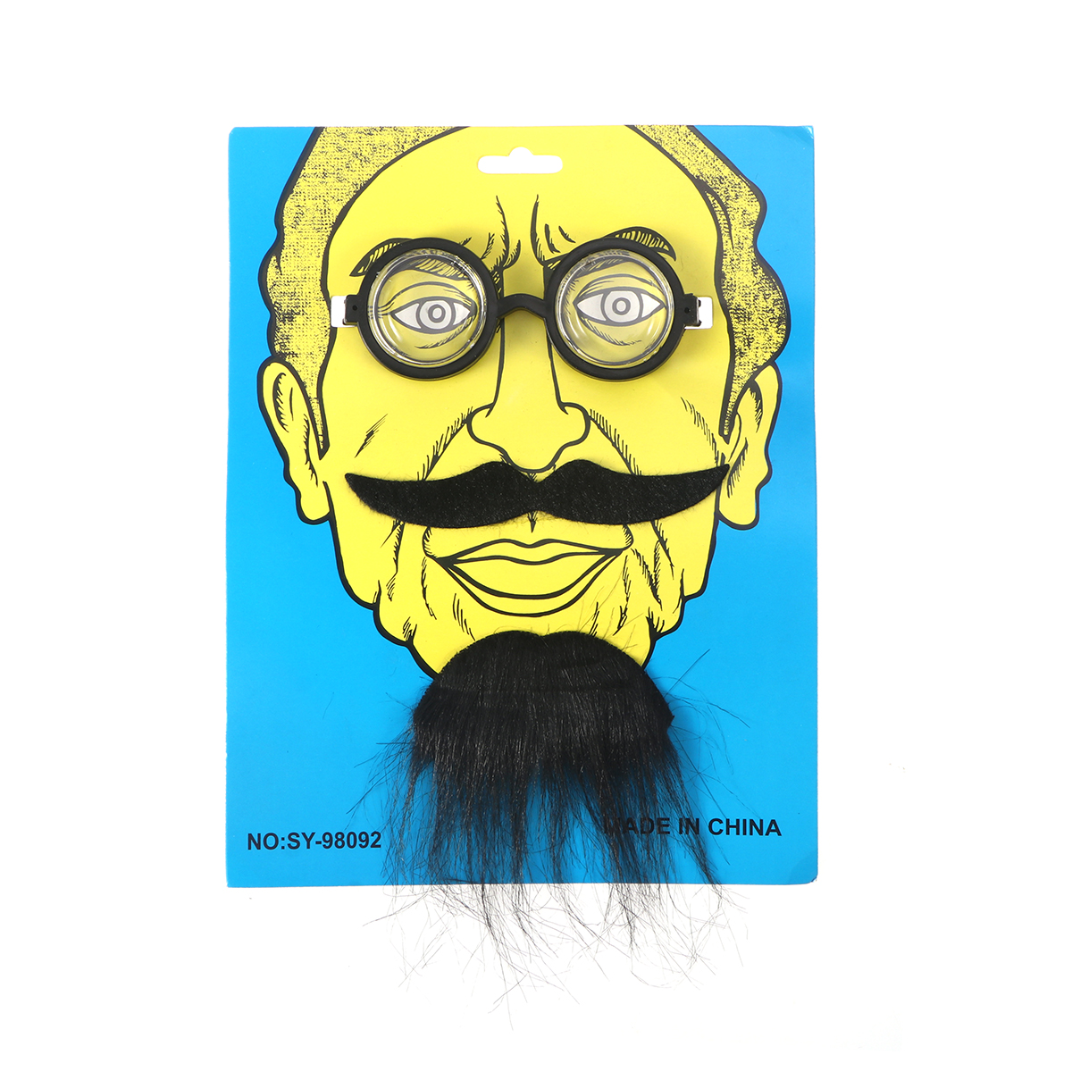 novelty halloween costumes self adhesive fake eyeglasses beard