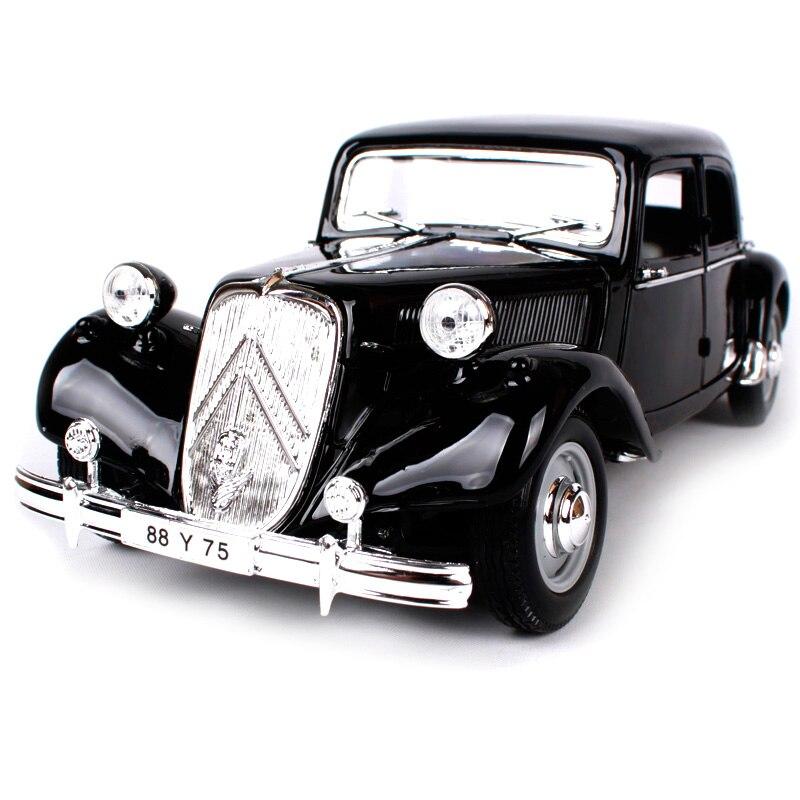 Maisto 1 18 1952 citroen 15cv 6cyl black car diecast luxury vintage car model exquisite motorcar