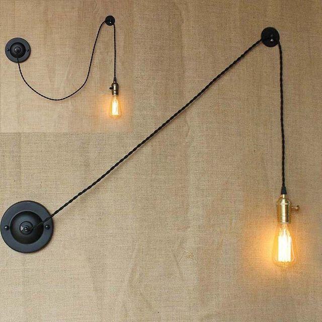 Awe Inspiring Woxoyozo Modern Simple Creative Diy Wall Light Adjustable Art Wire Wiring 101 Olytiaxxcnl